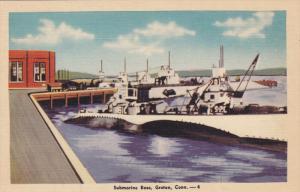 GROTON, Connecticut, 1930-1940's; Submarine Base
