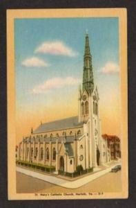 VA St Mary's Catholic Church NORFOLK VIRGINIA Postcard