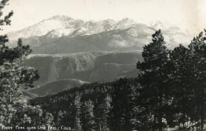 CO - Pike's Peak over Ute Pass   *RPPC