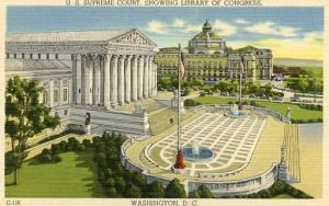 DC - Washington, U S Supreme Court & Library of Congress