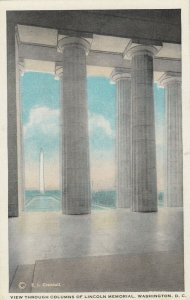 WASHINGTON D.C. , 1910s ; Columns of Lincoln Memorial