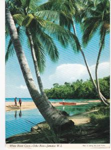 Post Card Jamaica White River Cove Ocho Rios