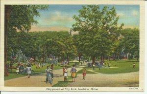 Playground At City Park, Lewiston, Maine