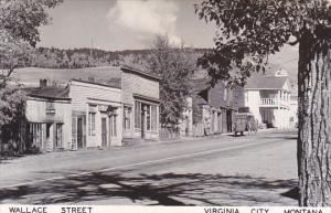 Montana Virginia City Wallace Street Real Photo