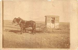 Manfred ND RFD Wagon #2 U. S. Mail Real Photo RPPC Postcard