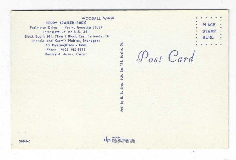 1960's Perry Trailer Parker, Perry, Georgia Chrome Postcard