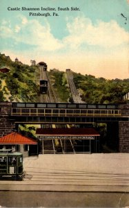 Pennsylvania Pittsburgh South Side Castle Shannon Incline 1913
