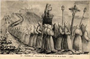 CPA Marseille - Proccesion de Penitents a N.-D. de la Garde (256357)