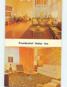 Unused Pre-1980 MOTEL SCENE Lynchburg Virginia VA hk0673