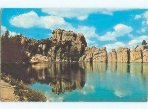 Pre-1980 LAKE SCENE Sylvan Lake In Black Hills Near Rapid City SD AE3489