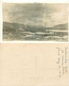 RPPC of Milwaukee Mill, St. Maries, Idaho, ID Flood, May 14, 1917