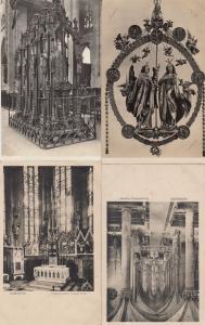 Nurnberg St Sebald Frauenkirche Kirche 4x German Religious Postcard s