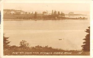 Pemaquid Harbor Maine Fort WM Henry Real Photo Antique Postcard K30783