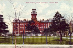 MAIN BUILDING STATE UNIVERSITY, LINCOLN, NE 1910
