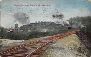 F20/ Lisbon Ohio Postcard Columbiana 1910 National Brass Copper Mills 3