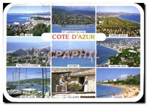 Modern Postcard Images of France French Riviera atmosphere and reflections
