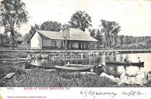 North Bridgton ME Narrow Gauge 1905 Railroad Station Train Depot Postcard