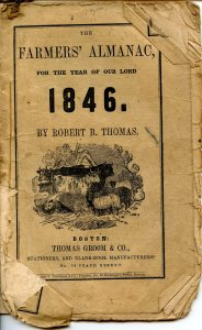 The Old Farmers' Almanac (Robert B Thomas)-1846 (8 X 5.25)44pp, stringbound