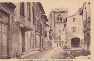 Rue De l'Hopital Et l'Eglise, Villeneuve-lez-Avignon (Gard), France, 1900-1910s