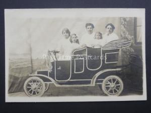 Family Portrait of Old Car Seaside Cut Out - W.Findley New Fair Ground Southport