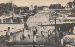 CAMDEN , Maine , 1920-30s; Windjammers in the Harbor