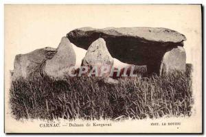 Old Postcard Dolmen Menhir Carnac Dolmen Kergavat