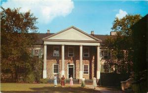 Washington PA~W & Jefferson College~Co-eds at Main Building~1950s Postcard
