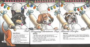 Flying Rabbit The Dog Bakers C. R. Hazard 3 Installment Postcards