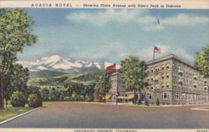 Colorado Colorado Springs Acacia Hotel Curteich