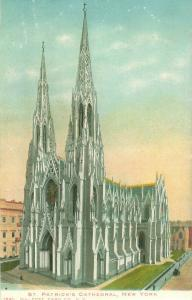 St Patrick's Cathedral New York Old View Undivided Back Postcard