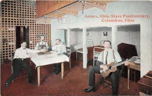 F36/ Columbus Ohio Postcard c1910 Annex State Penitentiary Prisoners