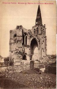 CPA CRÉPY-en-VALOIS Ruines de l'Église St-Thomas (375731)