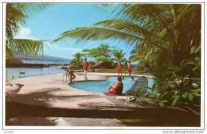 Hawaii - Hotel King Kamehameha - Kailua-Kona - pool #2 , 40-60s