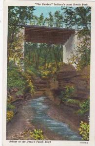 Indiana Waveland The Shades Indianas Most Scenic Park Bridge At The Devils Pu...