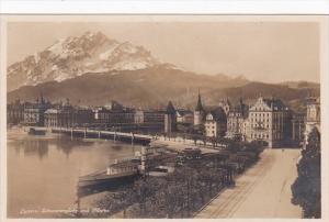 Switzerland Luzern Schwanenplatz und Pilatus Photo