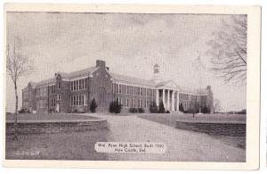 New Castle Delaware DE Wm Penn High School Vintage Postcard