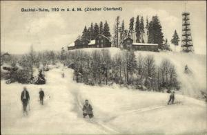 Bachtel-Kulm Zurcher Oberland Skiing Sledding - Switzerland Postcard