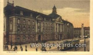 Karlsruhe Germany, Deutschland Postcard Hauptpost und Grenadierdenkmal Karlsr...