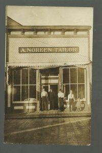 Little Falls MINNESOTA RP c1910 TAILOR SHOP Clothing A. NOREEN Store MAIN STREET