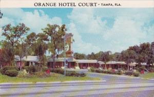 Florida Tampa Orange Hotel Court 1956