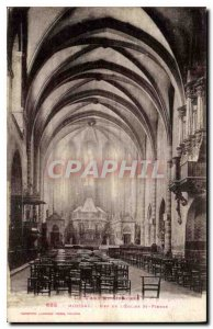 Postcard Old Moissac of the church St Pierre