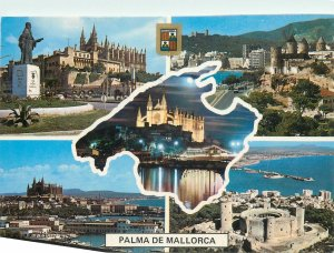 Postcard Spain Palma de Mallorca castle