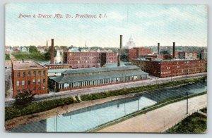 Providence Rhode Island~Brown & Sharpe Mfg Co~Machining Tool Factory~c1910