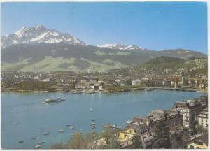 Luzern mit Pilatus, Lucerne and the Pilate, Switzerland, 1981 used Postcard