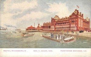 HOTEL CHAMBERLIN Fortress Monroe, VA c1910s Vintage Postcard