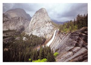 Yosemite National Park California, USA Postcard Giant Stairway Nevada Fall X43
