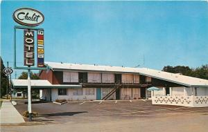 Portland Oregon~Chalet Motor Lodge Motel~1950s Postcard