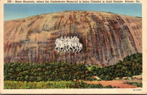 Georgia Atlanta Stone Mountain Where Confederate Memorial Is Being Chiseled I...