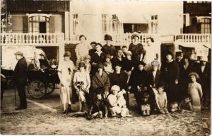 CPA carte photo BERCK-PLAGE - Les familles (116918)