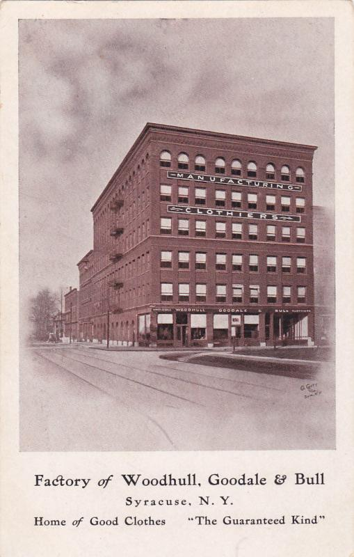 SYRACUSE, New York, 1900-1910's; Factory Of Woodhull, Goodale & Bull